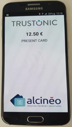 present card on smartphone